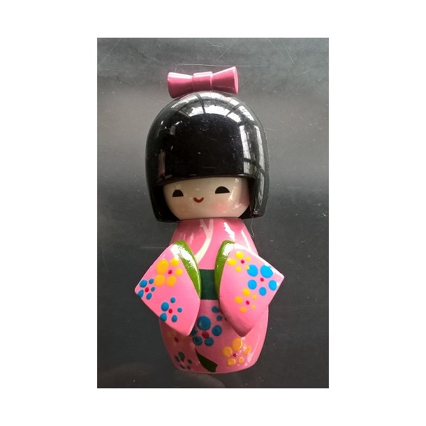 Japanske Kokeshi dukke Pink - L