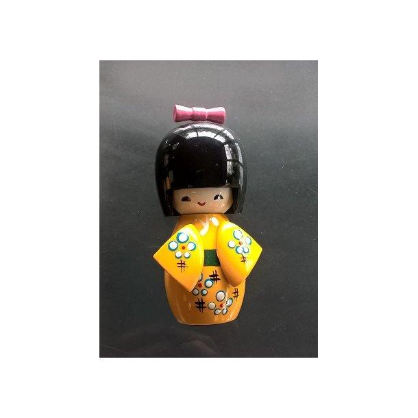 Japanske Kokeshi dukke Gul - M
