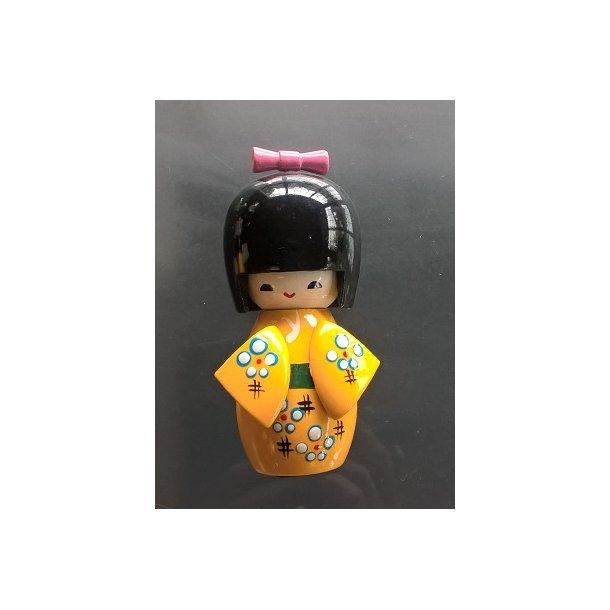 Japanske Kokeshi dukke Gul - L