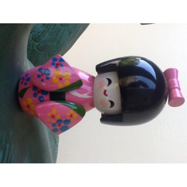 Kokeshi dukke pink S