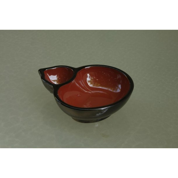 Skål, sort/rød (2)