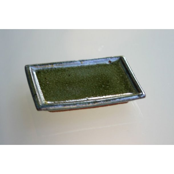Underskål, firkantet, grøn, lille