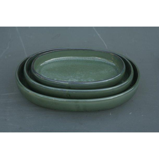 Bonsai sæt a 3 stk med oval form.