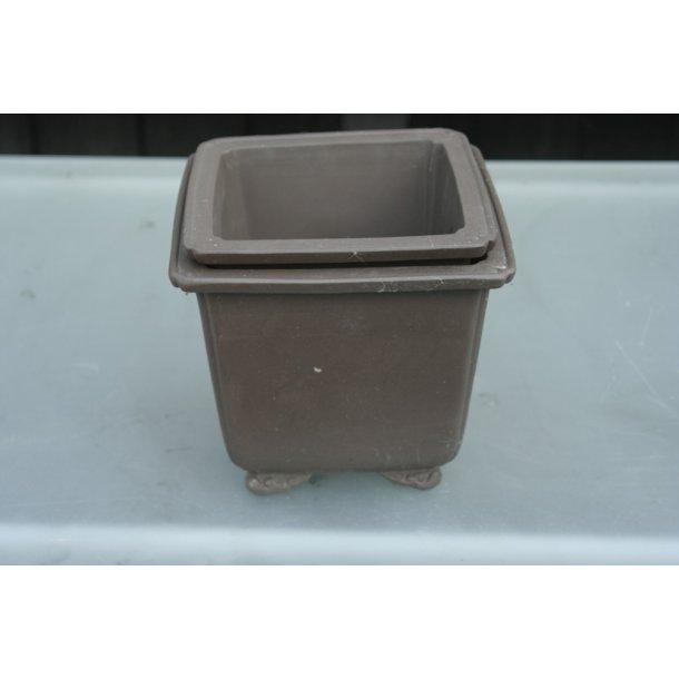Bonsai skål firkantet sæt a2 stk.
