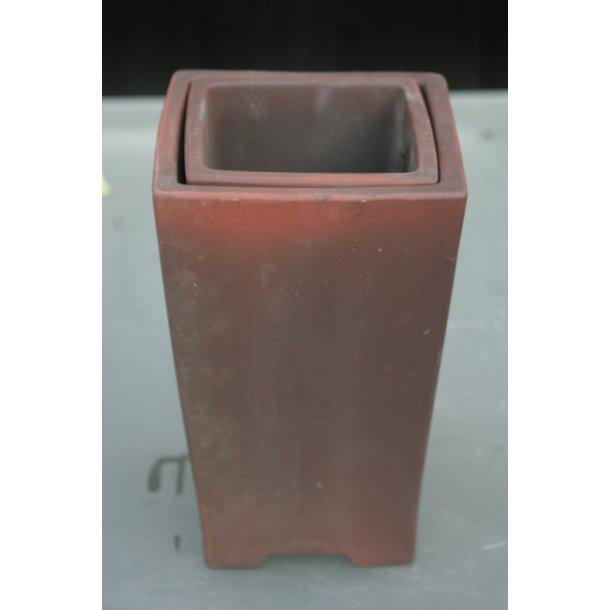 Bonsai skål firkantet sæt med 2 stk.