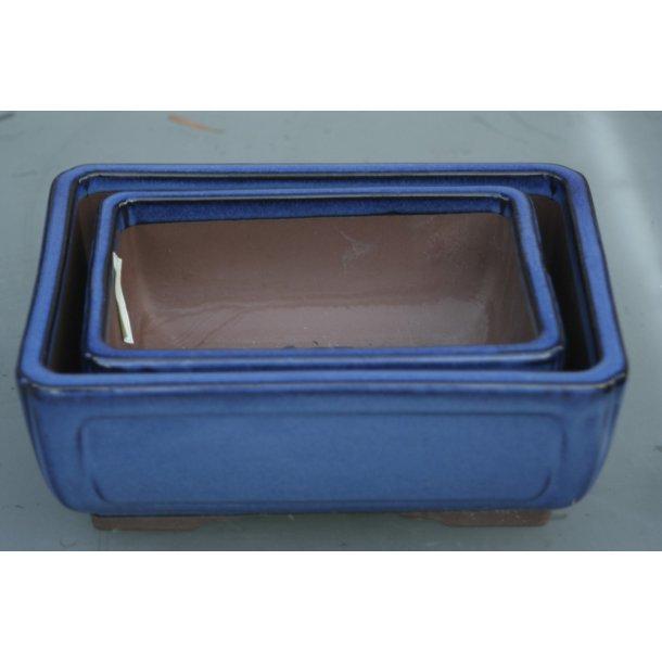 Bonsai skåle firkantede, sæt med 2 stk.