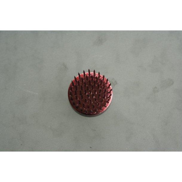 Fakir cirkulær rød, diameter 3 cm.