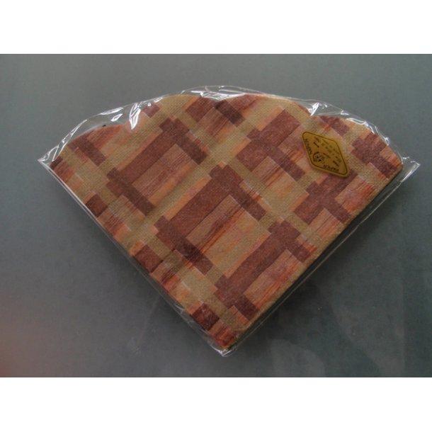 Japanske servietter 20 stk. brune ternede.