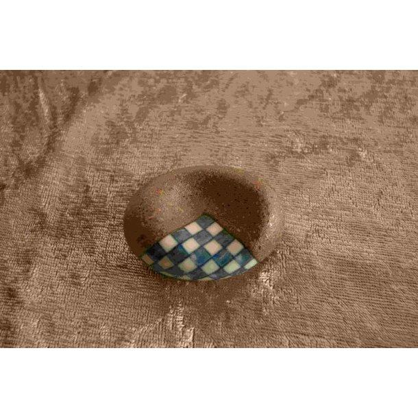 Spisepindeholder flad sten med dekoration