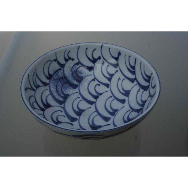 Blåmønstret skål