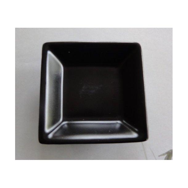 Sort mat firkantet Soja skål 6x6cm