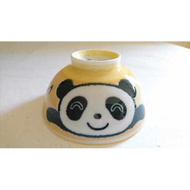 Risskål gul med Panda